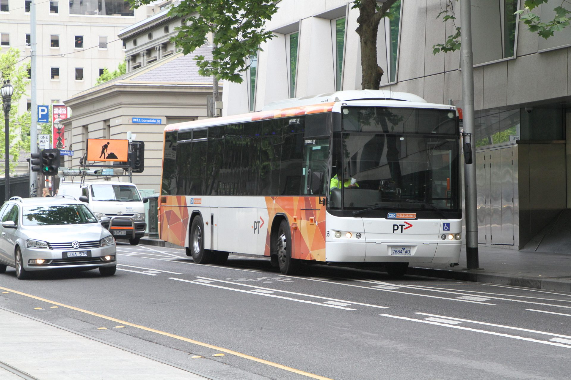 CDC Melbourne bus #56 7684AO on route 605 at Flagstaff