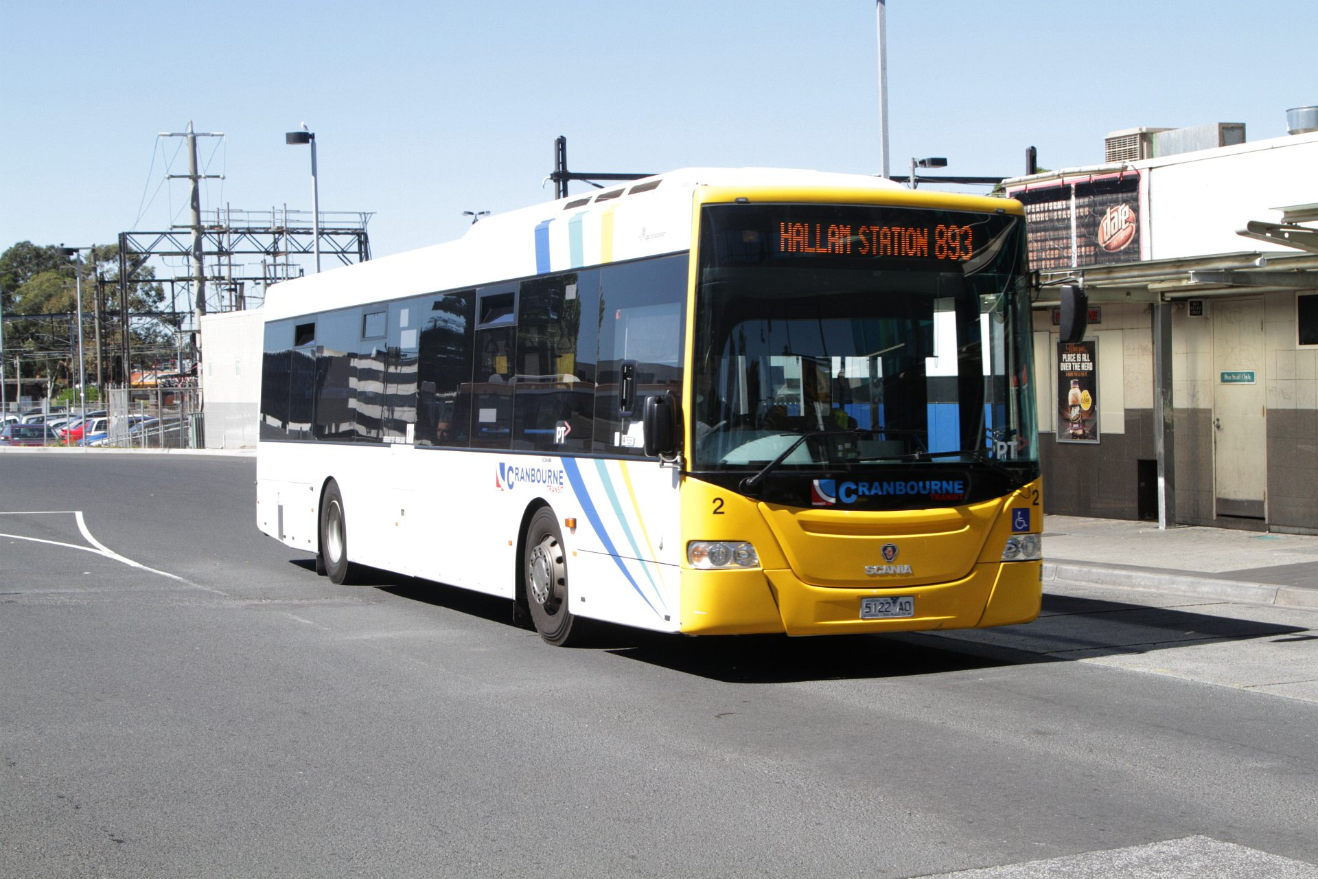Cranbourne Transit #2 5122AO on route 893 at Dandenong