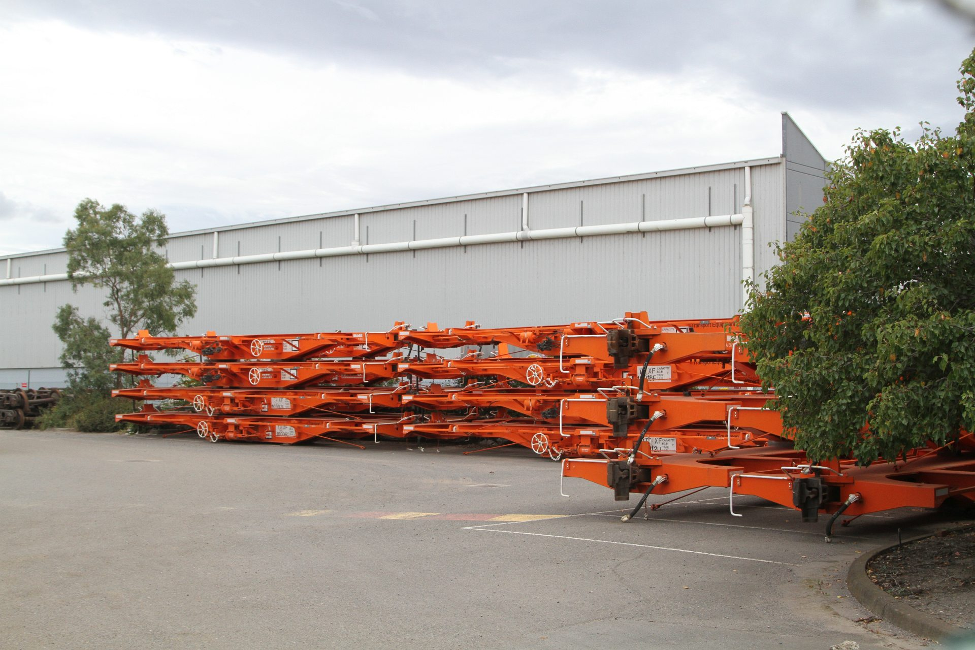 Tqxf Container Wagons Stored In The Qube Logistics Former