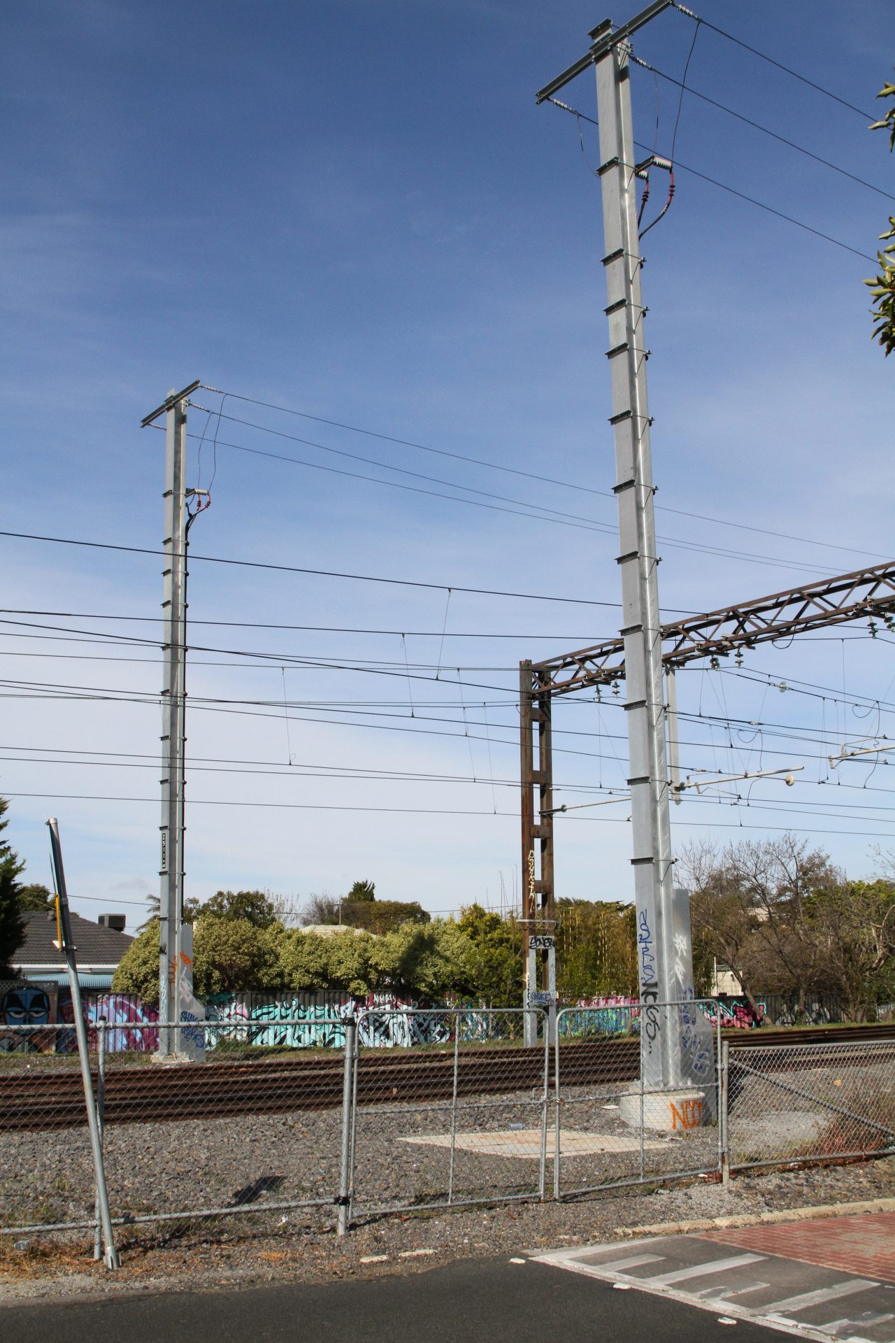 22 kV aerial feeders head underground at the up end of Patterson ...
