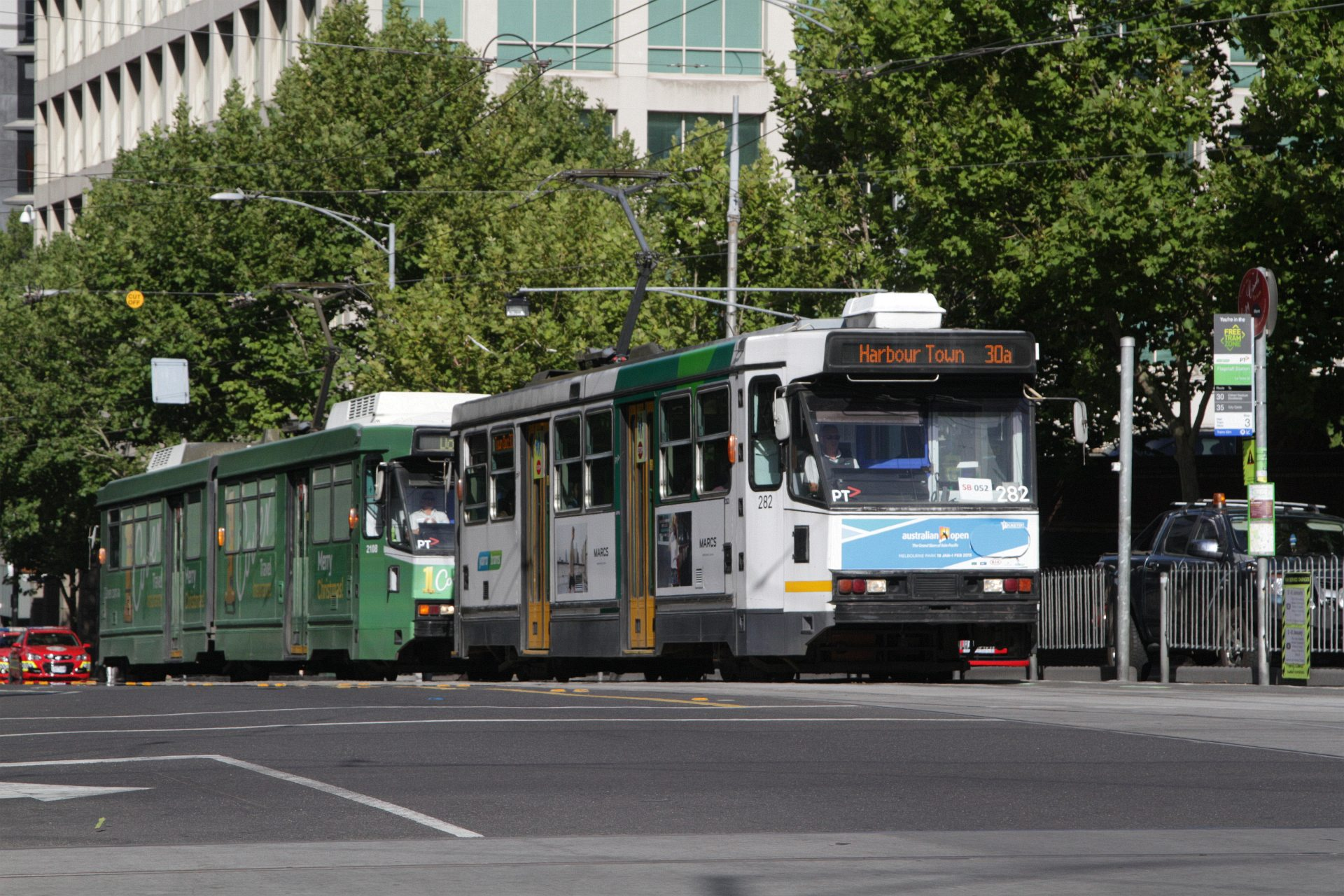 how to get to docklands by tram