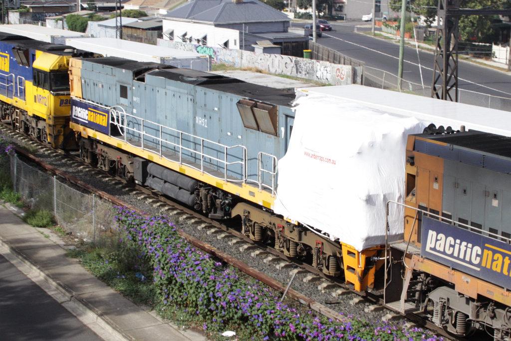 NR51 was damaged in February 2009 derailment on the Trans-Australian