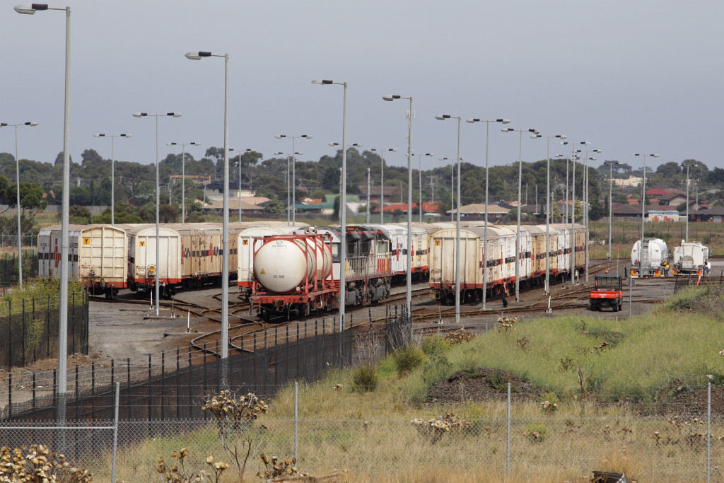 Two Sct Class And A Fuel Tanker Move Around The Sct Yard
