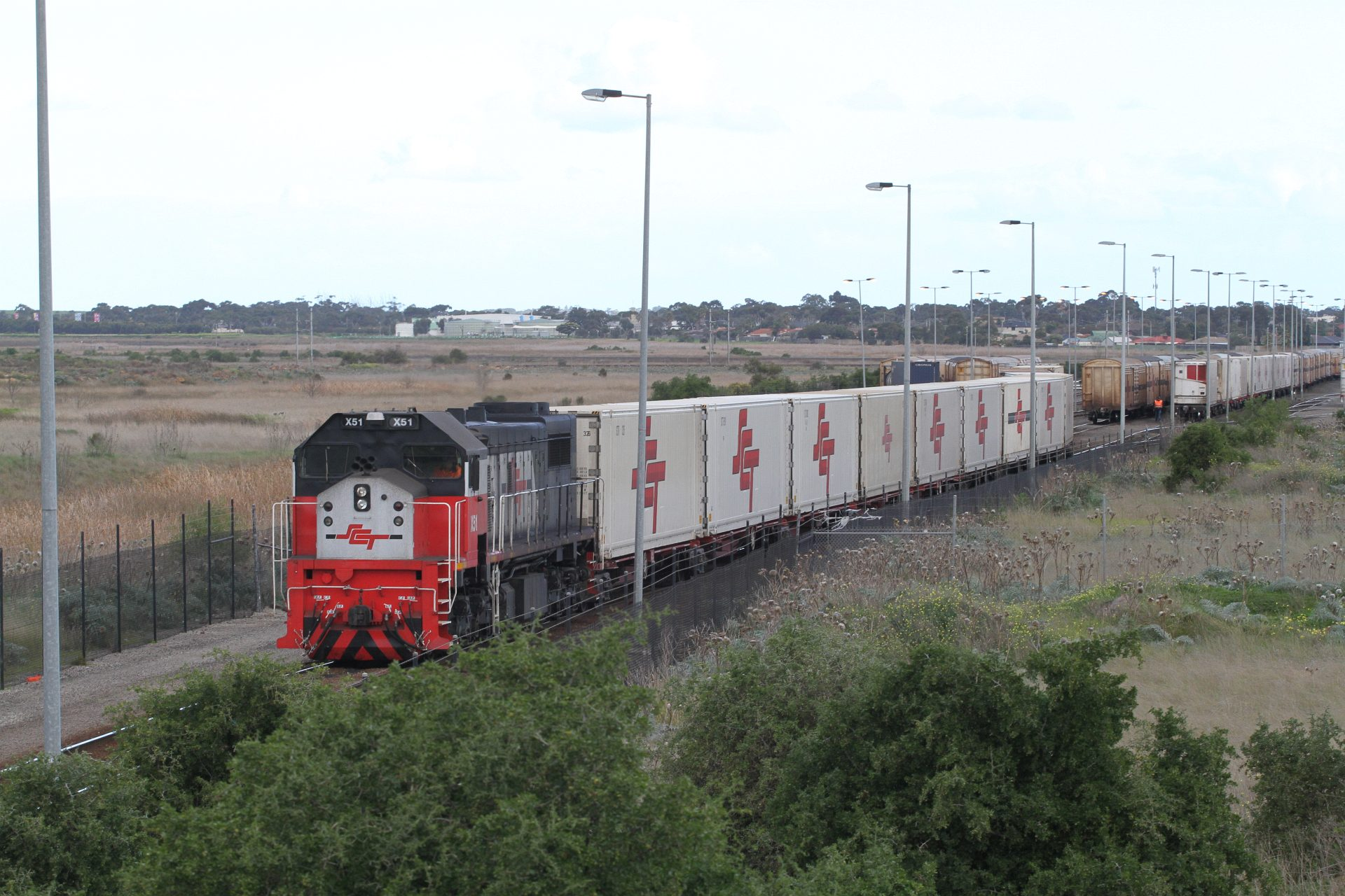 X51 Shunting Loaded Container Wagons At The Sct Depot In