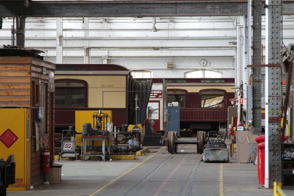 Carriages From The Great South Pacific Express In Storage At Back Of Works