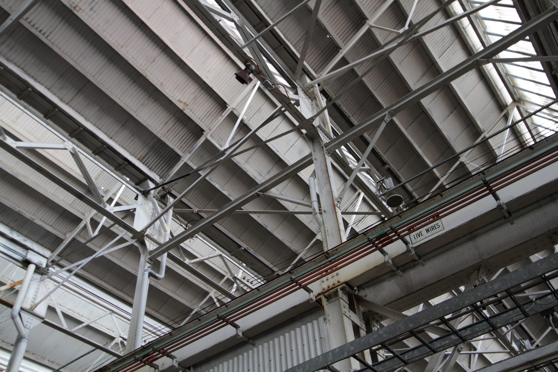 Overhead Crane Rails Follow The Sawtooth Roof Of The