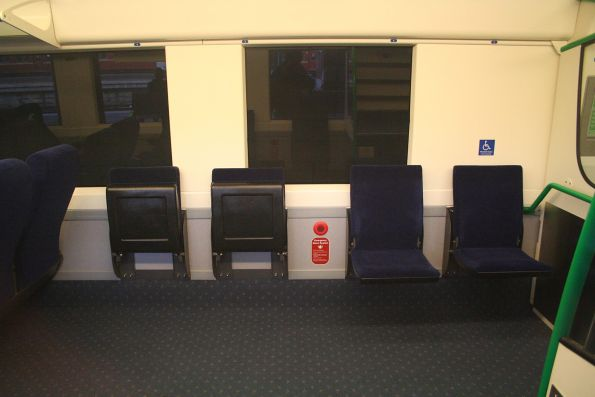Wheelchair spaces in VLocity centre car 1341