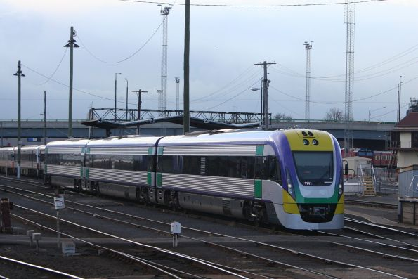 Three car VL41 in the railcar sidings at Southern Cross