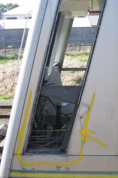 The stripped out front cab of 6002T