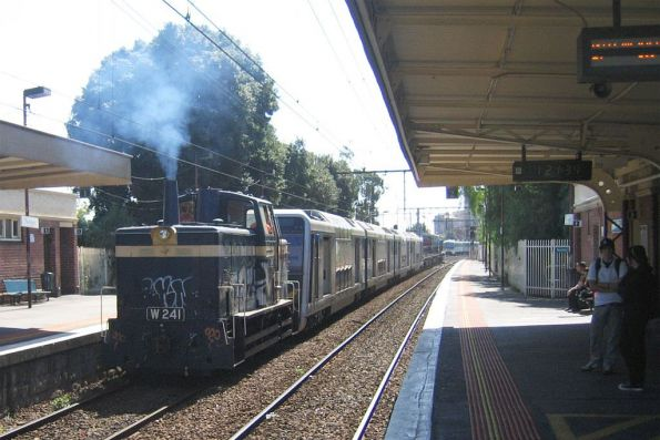 4D and W241 on their way through Newport Station