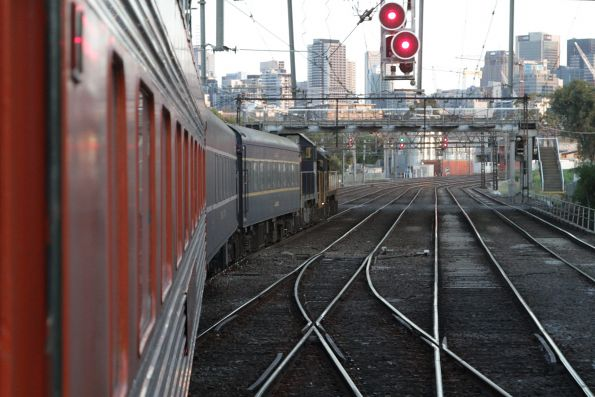 Negotiating the crossovers at North Melbourne Junction