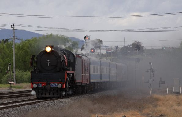 Covering the level crossing with smoke