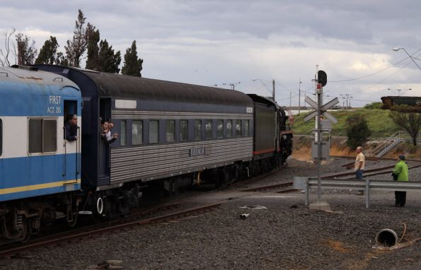 Headed around the loop line to North Geelong A