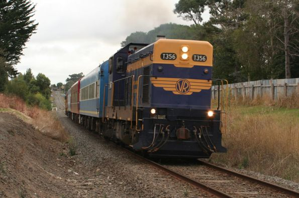 T356 leads headed out of Colac