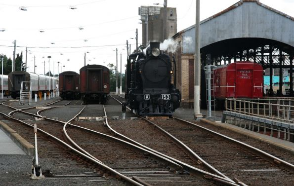 Running around the train, K153 off to the turntable