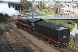 R707 heads to Geelong Loco to be turned