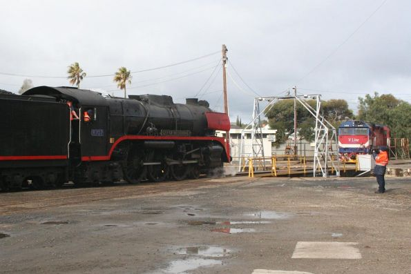 R707 gets turned at Geelong Loco