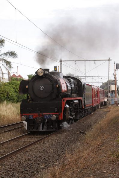 R707 in the lead of the train