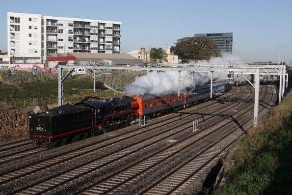 R707 leads the consist tender first from Newport to Southern Cross