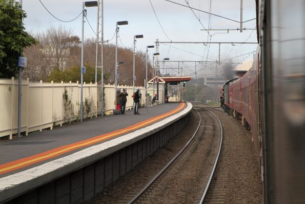 R707 trailing the train through Yarraville