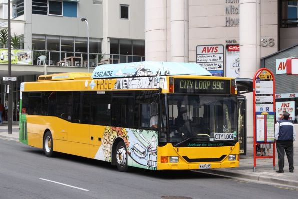 #1758 running the free City Loop service outside Adelaide Railway Station
