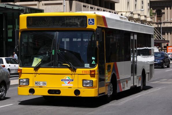 #1703 eastbound on Grenfell Street at King William Street