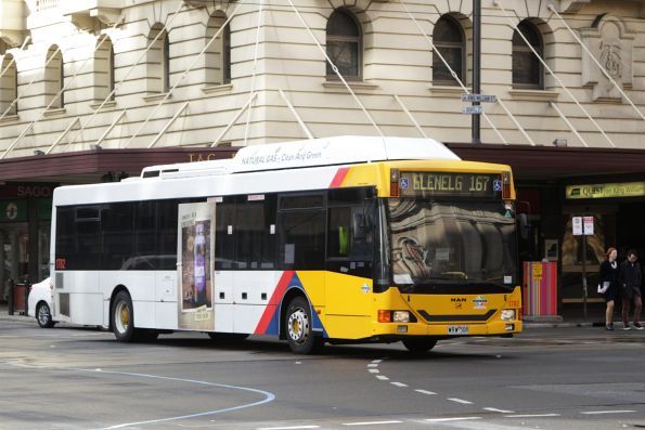 Torrens Transit bus #1782 on a route 167 service at Grenfell and King William Street
