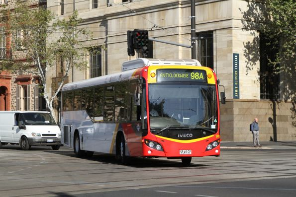 #1381 on route 98A at North Terrace and King William Street