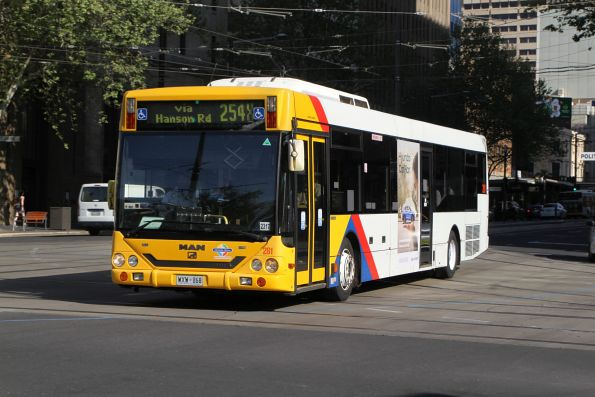 #281 on route 254X at King William Street and North Terrace