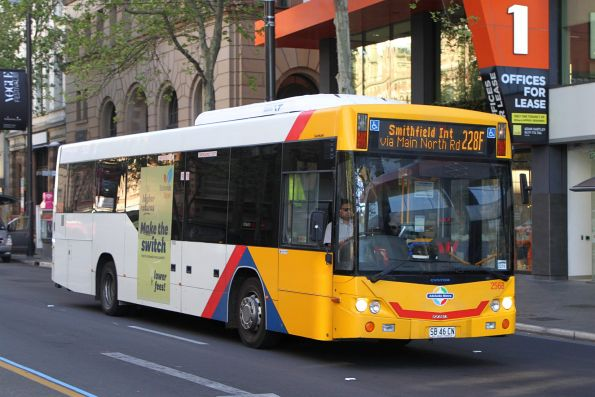 #2568 on route 228F at King William Street and North Terrace