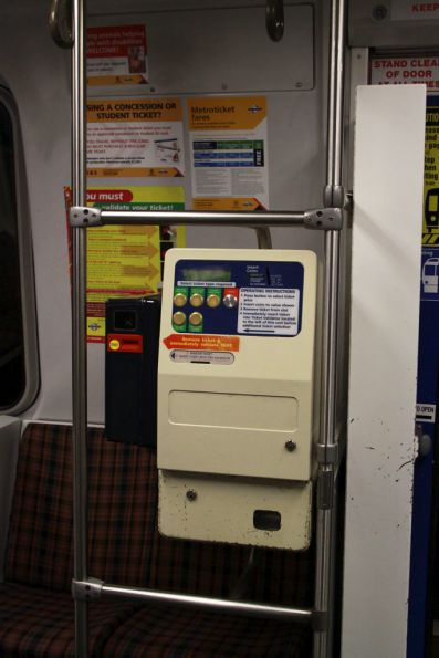 Onboard ticketing machines as seen on all Adelaide trains