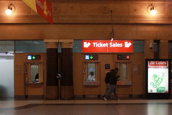 Ticket windows on the main concourse at Adelaide station