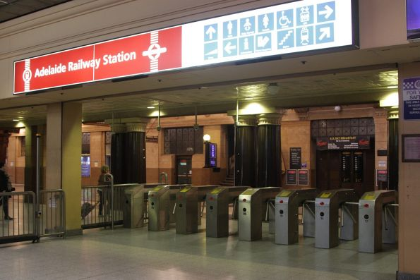 Ticket gates at Adelaide Railway Station