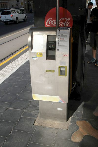Ticket machine at the Adelaide Railway Station tram stop