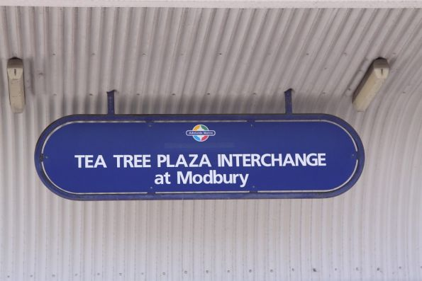 'Tea Tree Plaza Interchange' sign