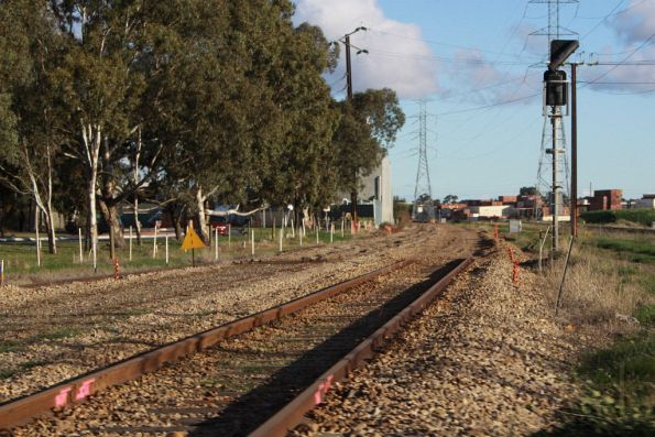 Track lifted at Dry Creek, for the Gawler line rebuilding