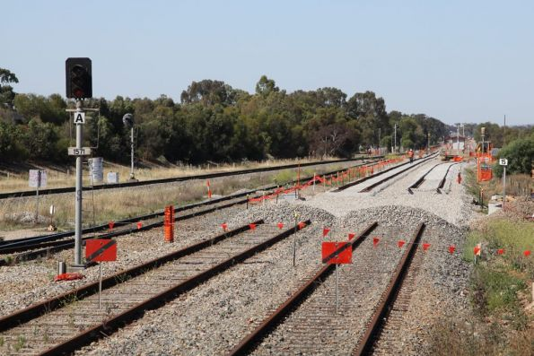 Ballast at Mawson Lakes marks the start of the Gawler Central line worksite