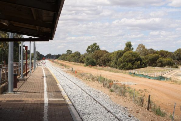 Rebuilt track at Parafield Gardens on the Gawler Central line