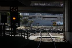 Signal cleared for a departure from Adelaide station, 'SS' for the South Suburban lines towards Noarlunga