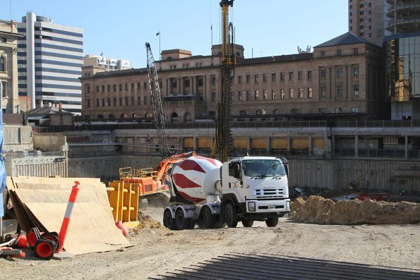 Big hole at the Adelaide Festival Plaza redevelopment site