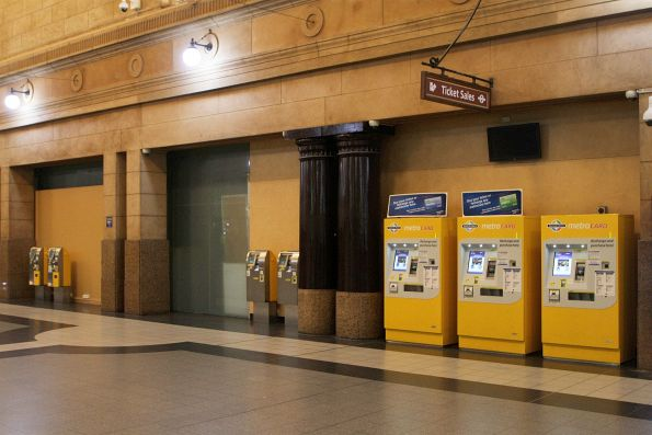 Ticket machines on the main concourse at Adelaide station