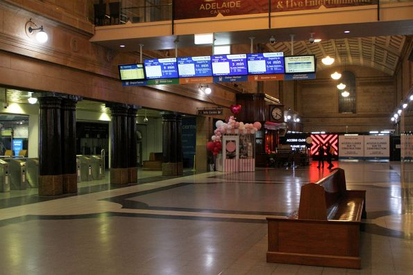 Main concourse at Adelaide station