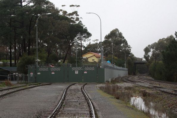 Stabling yard at the down end of Belair station