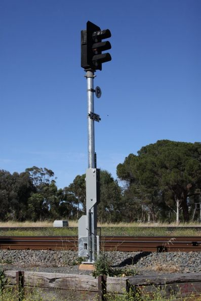 Trial folding signal post for signal 274 at North Adelaide, an 'East Access' mast by Invensys