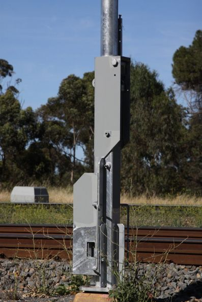 Detail of the trial folding signal post mechanism at North Adelaide
