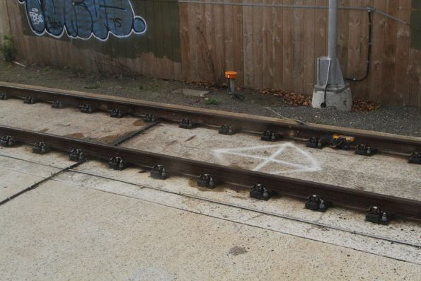 Concrete slab track used through the Goodwood Junction rail underpass