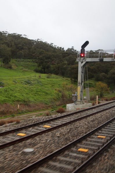 ETCS Level 1 balises at the end of a crossing loop on the Belair suburban line