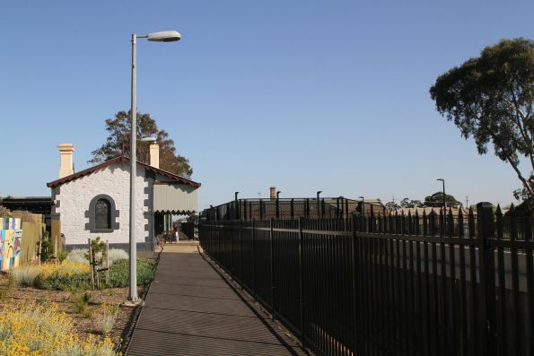 Heritage listed Bowden station still in place above the railway cutting