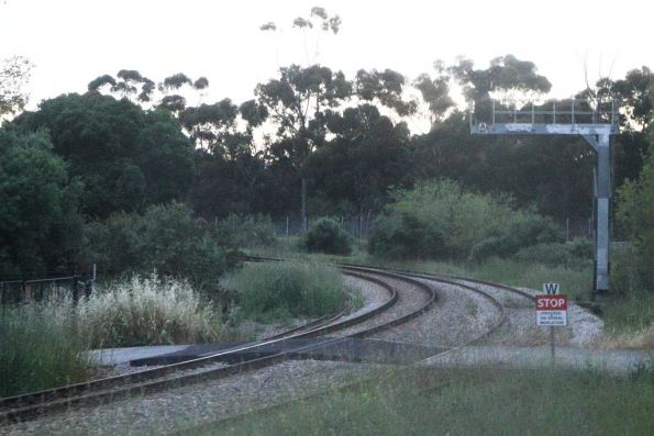 Dark signal on the broad gauge Gaol Loop track