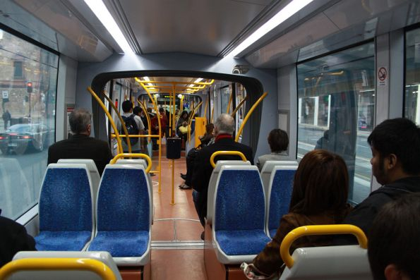 Interior of the new Citadis 302 trams